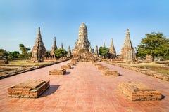 Alter Tempel, Wat Chaiwatthanaram Temple von Ayuthaya-Provinz Stockfotografie
