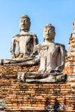Alter Tempel, Wat Chaiwatthanaram Temple von Ayuthaya-Provinz Lizenzfreie Stockfotos