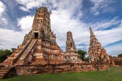 Alter Tempel wat Chaiwatthanaram von Ayuthaya-Provinz historischer Park) (Ayutthaya Asien Thailand Stockfotos