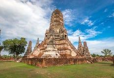Alter Tempel wat Chaiwatthanaram von Ayuthaya-Provinz historischer Park) (Ayutthaya Asien Thailand Stockfoto
