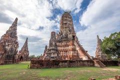 Alter Tempel wat Chaiwatthanaram von Ayuthaya-Provinz historischer Park) (Ayutthaya Asien Thailand Lizenzfreie Stockbilder