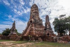 Alter Tempel wat Chaiwatthanaram von Ayuthaya-Provinz historischer Park) (Ayutthaya Asien Thailand Stockbilder