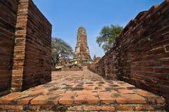 Alter Tempel wat Praram von Ayuthaya-Provinz (Ayutthaya historisch Lizenzfreie Stockbilder
