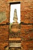 Alter Tempel wat von Ayuthaya Stockfoto