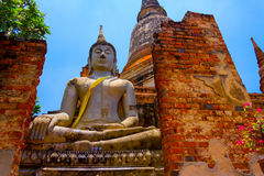 Alter Tempel Wat Worachetharam von Ayuthaya Stockbild