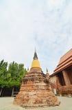 Alter Tempel Wat Yai Chai Mongkhon von Ayuthaya Provinz Thailand Lizenzfreie Stockfotos