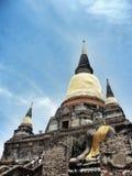 alter Tempel Wat Yai Chai Mongkhon von Ayuthaya, Thailand Lizenzfreies Stockfoto