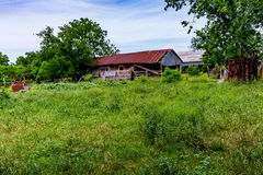 Alter Texas Farm Building Stockfoto