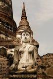 Alter thailändischer Tempel Buddhas über thailändische Geschichte lizenzfreie stockbilder