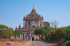 Alter Thatbyinnyu-Tempel, Bagan, Myanmar Lizenzfreies Stockfoto