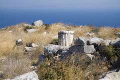Alter Thira Rest, Griechenland Lizenzfreie Stockfotografie