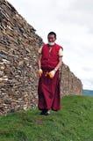 Alter tibetanischer Mann Stockbild