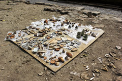 Alter Topf gefunden im Archäologiestandort stockfoto