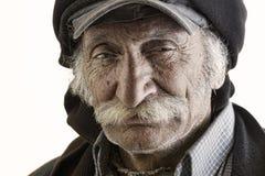 Alter traditioneller libanesischer Mann mit dem Schnurrbart Lizenzfreie Stockbilder