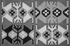 Alter traditioneller rumänischer Wollteppich Stockbild