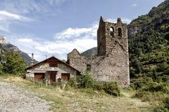 Alter Trinidad Church von Canfranc Huesca Spanien Stockfotos