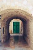 Alter Tunnel und eine Tür Lizenzfreie Stockbilder
