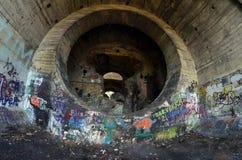 Alter Tunnel von Stalin Teil der Kiew-Verteidigungzeile in der Zeit WW2 lizenzfreie stockfotografie