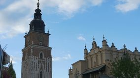 Alter Turm Hall in Cracovia stock video footage