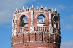 Alter Turm von Don Icon-Kloster in Moskau Lizenzfreie Stockfotografie