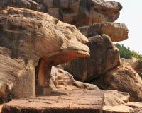 Alter Udayagiri schnitzte Höhlen stockfotografie