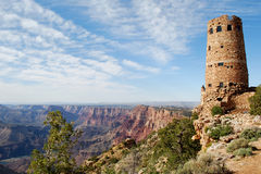 Alter Uhr-Kontrollturm am Grand Canyon lizenzfreie stockfotografie