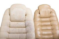 Alter und neuer Crannied Büro-Chef Chair (Lehnsessel) Gewachsenes altes uph Stockfotos