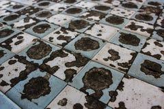 Alter und schmutziger Schachbretthintergrund Stockbild