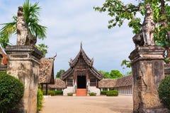 Alter und vorstehender Tempel Wat Ton Kwens in Chiang Mai Stockfoto
