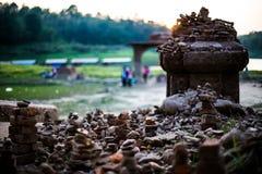 Alter Unterwassertempel an sankhraburi kanchanaburi Thailand Lizenzfreie Stockfotografie
