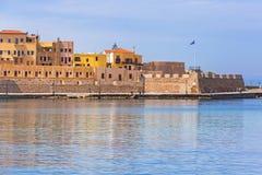 Alter venetianischer Hafen von Chania auf Kreta Lizenzfreies Stockbild