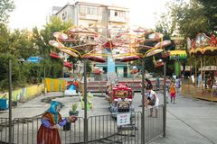 Alter Vergnügungspark in Tirana, Albanien lizenzfreie stockbilder
