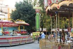 Alter Vergnügungspark in Tirana, Albanien lizenzfreie stockfotografie