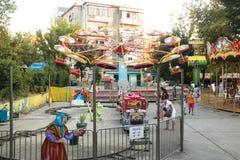 Alter Vergnügungspark in Tirana, Albanien stockfotografie