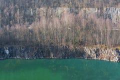 Alter verlassener Tagebau Stockfotografie