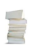 Alter vertikaler Buchstapel Stockbild