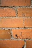 Alter verwitterter Backsteinmauerhintergrund Stockbild