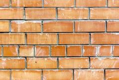 Alter verwitterter befleckter roter Backsteinmauerhintergrund Lizenzfreies Stockbild