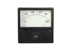 Alter Voltmeter lizenzfreies stockfoto