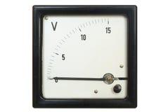 Alter Voltmeter lizenzfreies stockbild