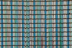 Alter Vorhang oder blinde Beschaffenheit von bunten Stöcken Lizenzfreie Stockfotografie