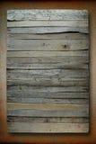 Alter Vorstand auf einem Stück Eisenrost lizenzfreies stockbild