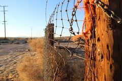 Alter Wüsten-Zaun lizenzfreie stockbilder