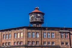 Alter Wasserturm in Nikiszowiec Lizenzfreie Stockfotos