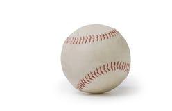 Alter weißer Baseball lokalisiert auf weißem Hintergrund Stockbild