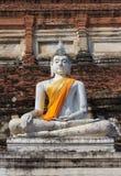 Alter weißer Buddha Stockbild