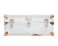 Alter weißer Koffer Lizenzfreie Stockfotografie