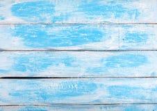 Alter weißer und blauer hölzerner strukturierter Hintergrund in einer französischen Art Stockbilder