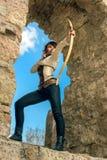 Alter weiblicher Bogenschütze Lizenzfreies Stockbild