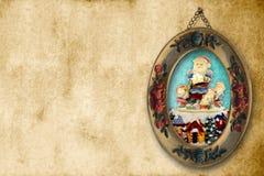 Alter Weihnachtsweihnachtsmann-Hintergrund Lizenzfreies Stockbild